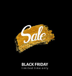 sale for black friday on golden grunge background vector image