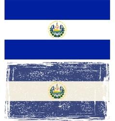 Salvador grunge flag vector