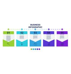 set presentation business infographic cards vector image