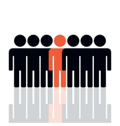 Silhouette of a group of people vector