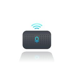 Smart speaker voice assistant vector