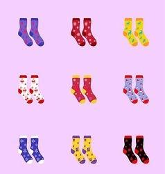 socks as Christmas signs vector image