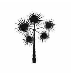 Spiny tropical palm tree icon simple style vector