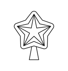 Star for Christmas tree icon outline style vector