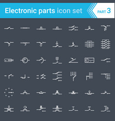 Switches pushbuttons and circuit switches vector
