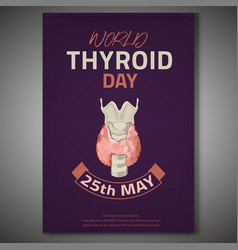 Thyroid gland poster vector