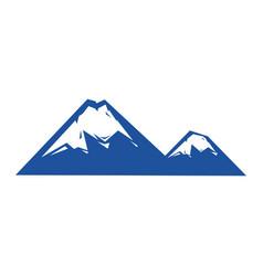 Uncurve mountains vector