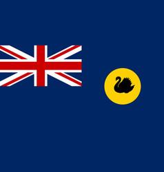 Western australia flag vector