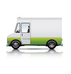 White and green van vector