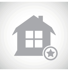 Grey favorite house icon vector