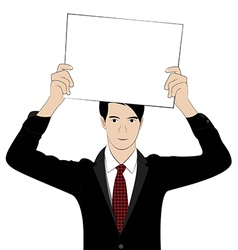 hold paper1 vector image vector image