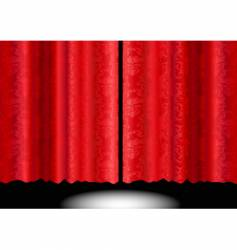 silk patterned curtain vector image vector image