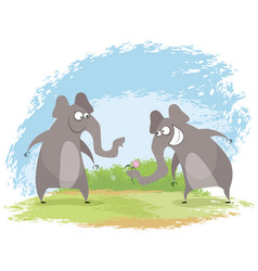 two elephant love vector image