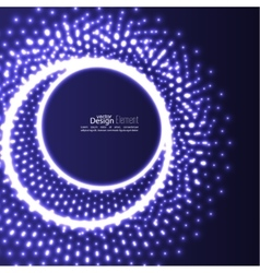 Abstract background with glowing circles vector image vector image