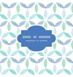 Abstract textile blue green leaves frame seamless vector image