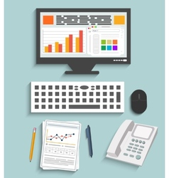 Business work elements vector image