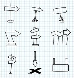 Cartoon Arrows vector image