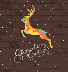 decorative christmas deer vector image