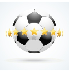 football ball with golden vector image vector image