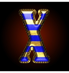 golden and blue letter x vector image vector image