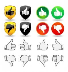 hand gesture set 1 thumbs vector image vector image