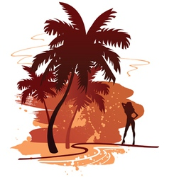 summer backdround vector image