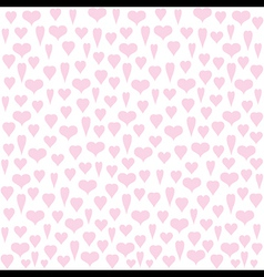 different heart shape pattern design vector image vector image