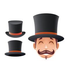 gentleman victorian business cartoon bowler hat vector image