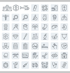 Medical related icon set in thin line style vector image vector image