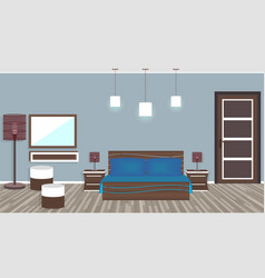 modern living room in hotel in flat style vector image vector image