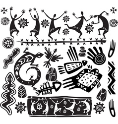 primitive art design elements vector image