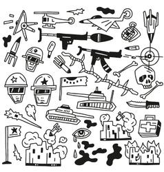 war doodles vector image