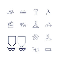 13 industry icons vector