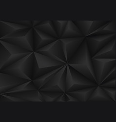 Abstract black triangle polygon pattern background vector