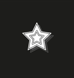 Add to favorites icon - favorites button star vector