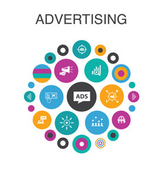 advertising infographic circle concept smart ui vector image