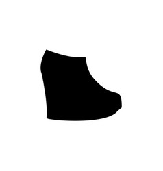 ankle boots icon on white background clothing or vector image