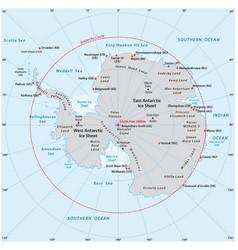Antarctic map vector