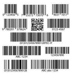 Barcodes set vector