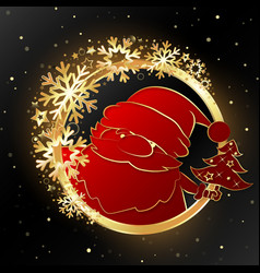 beautiful christmas background with golden vector image