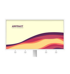 billboard with abstract paper cut design and multi vector image