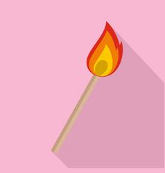 Burning matche icon flat style vector
