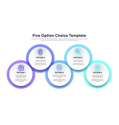 business model with 5 options and choice vector image