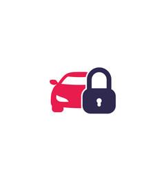 Car lock icon vector