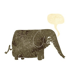 Cartoon mammoth with speech bubble vector