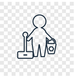 cleaner concept linear icon isolated on vector image