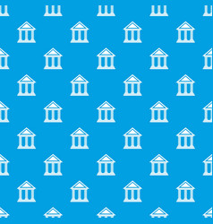 colonnade pattern seamless blue vector image