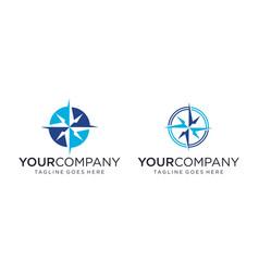 Creative compass concept for logo design vector