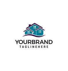 creative real estate logo design house logo design vector image