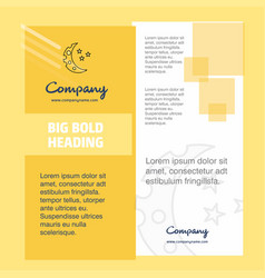 crescent and stars company brochure title page vector image